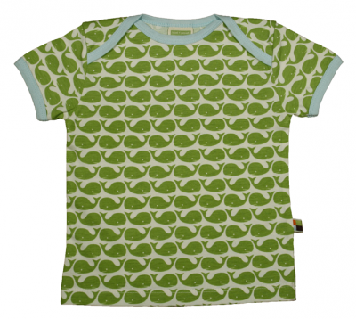 t-shirt con balene verdi