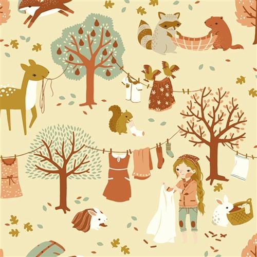 LAUNDRY DAY tessuto Birch fabric