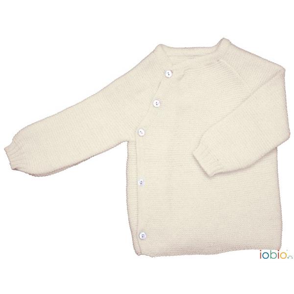kimono a maglia in lana ecru