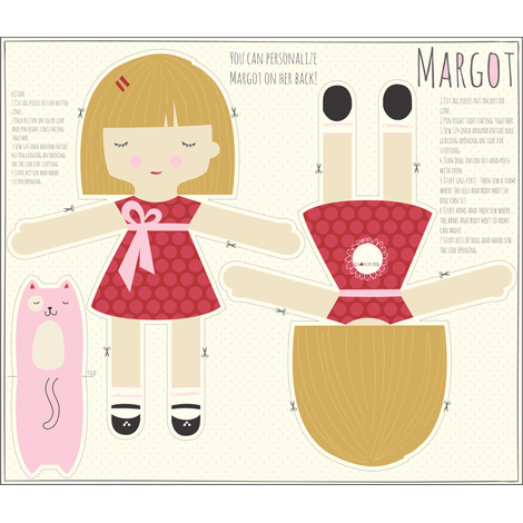 Modello per bambola Margot