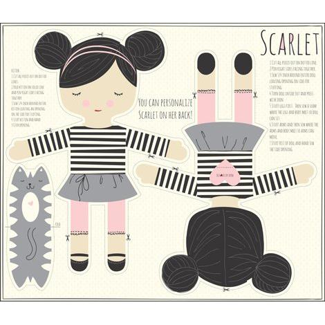 Modello per bambola Scarlet
