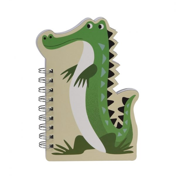 Quaderno spirale sagomato coccodrillo