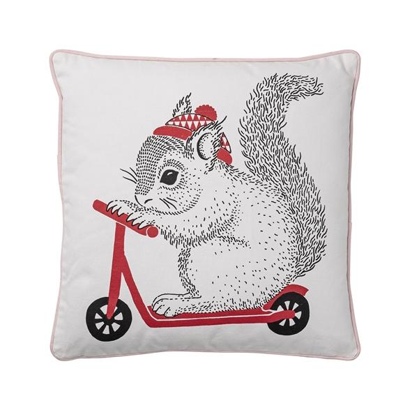 Cuscino XL scoiattolo su monopattino