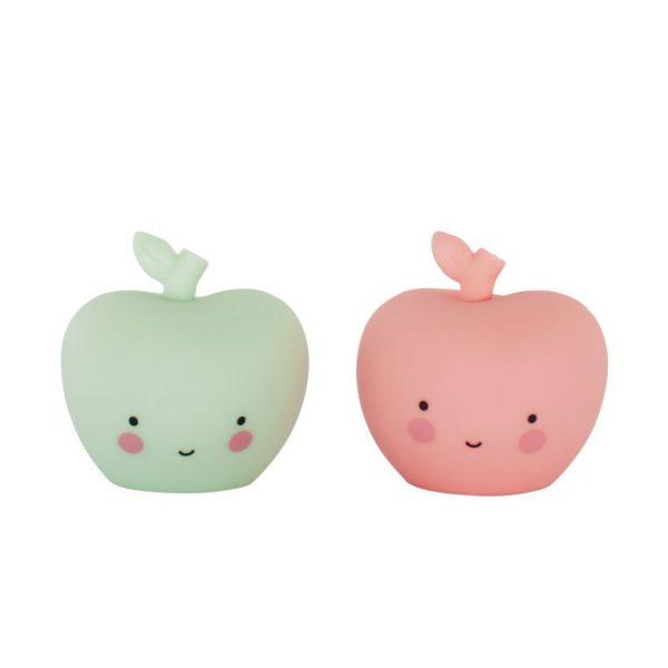 Mini figurine mela rosa e verde