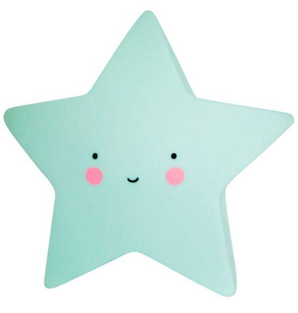 Mini lampada notturna stella menta