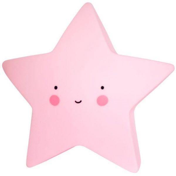 Mini lampada notturna stella rosa