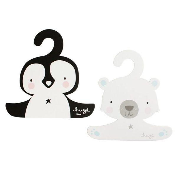 Set grucce Orso polare e Pinguino A Little Lovely Company