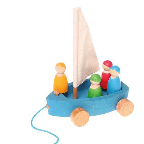 Barca a vela da tirare Grimm's - 4 personaggi inclusi