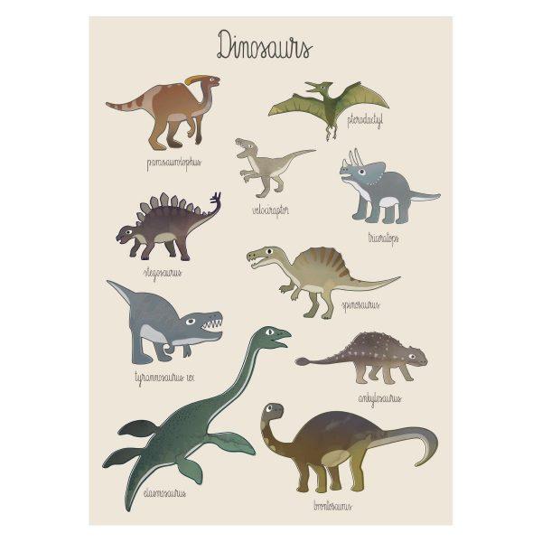 Poster Dinosauri Sebra