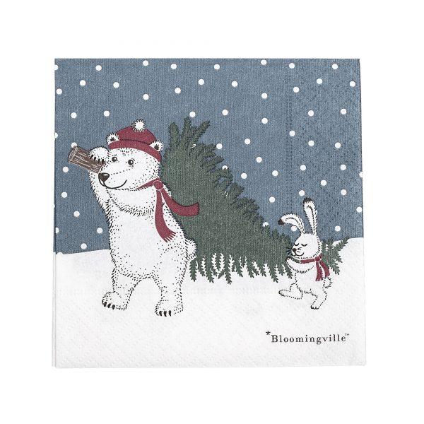 Tovaglioli Woodland Natale Bloomingville