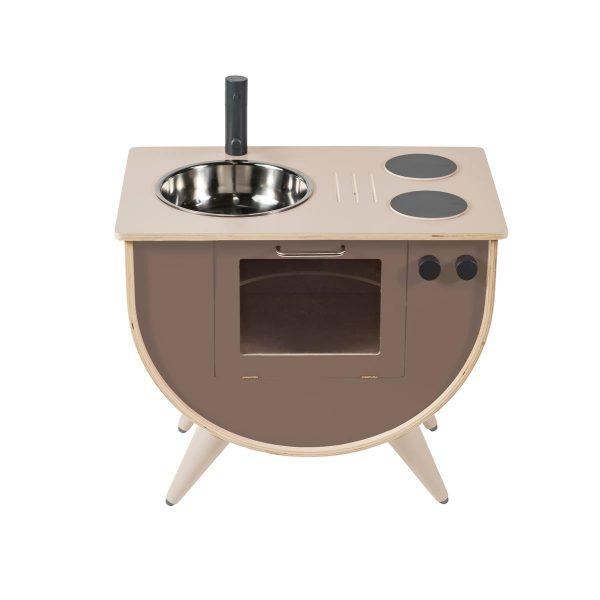 Cucina gioco in legno warm grey Sebra