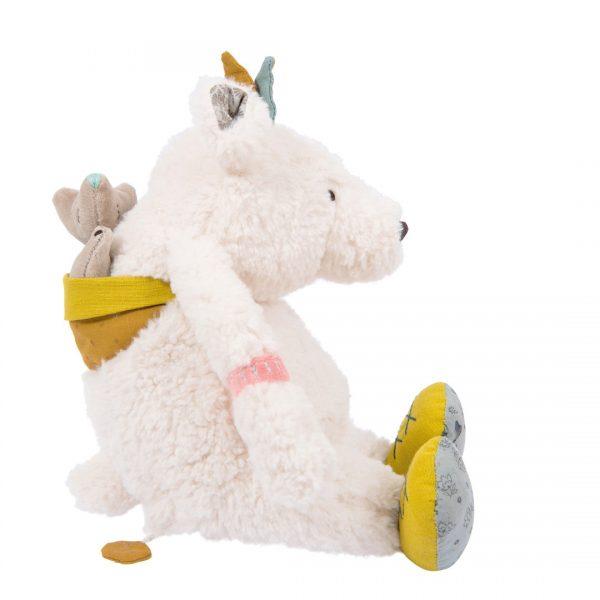 Pupazzo carillon Pom l'orso bianco Le Voyage d'Olga Moulin Roty