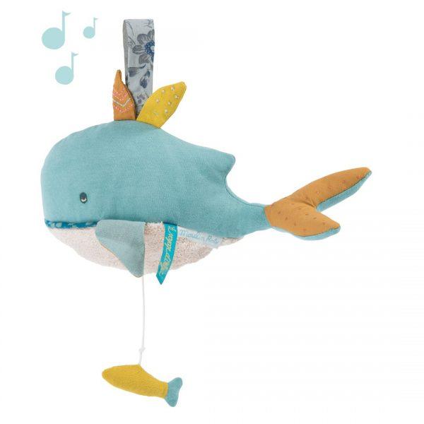 Pupazzo carillon balena Joséphine Le Voyage d'Olga Moulin Roty