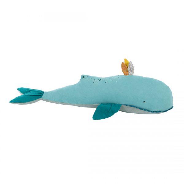 Pupazzo cuscino gigante balena Joséphine Le Voyage d'Olga Moulin Roty