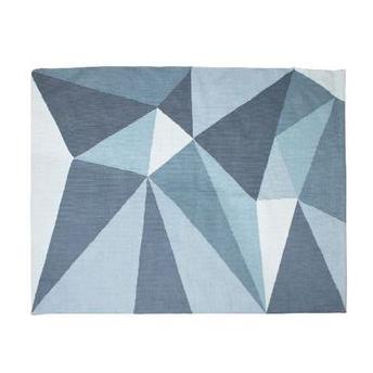 Tappeto geometric blue cotone intrecciato Sebra