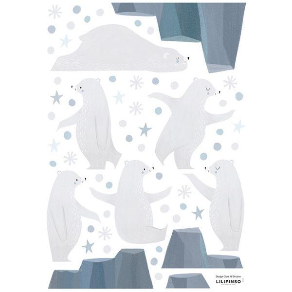Wallsticker Orsi giocolieri Artic Dream Lilipinso