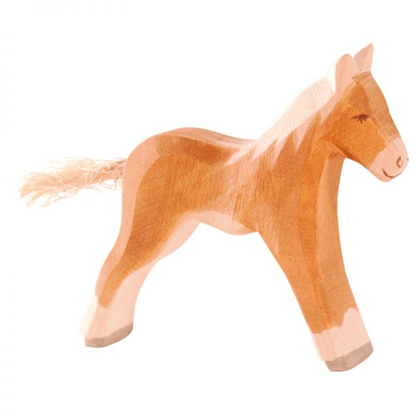 Figura legno cavallino haflinger - Ostheimer