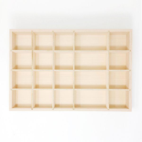 Vassoio bacheca classificazione legno Grapat
