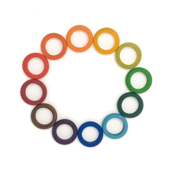 12 anelli arcobaleno Waldorf Grapat
