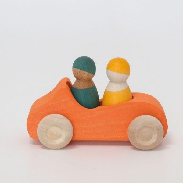 Macchina di legno - Grande Cabrio arancione Grimm's