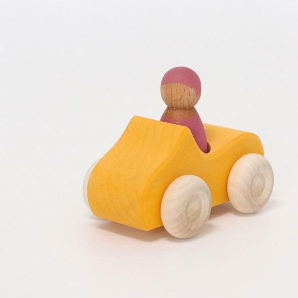 Macchina di legno - Piccola Cabrio gialla Grimm's