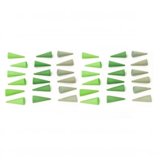 Mandala coni verde Waldorf Grapat