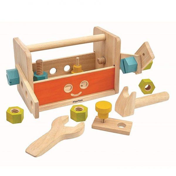 Set Attrezzi in Legno Robot Tool Box Plan Toys