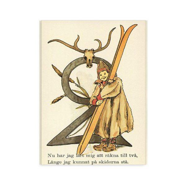 Cartolina numero 2 fiorito Ottilia Adelborg