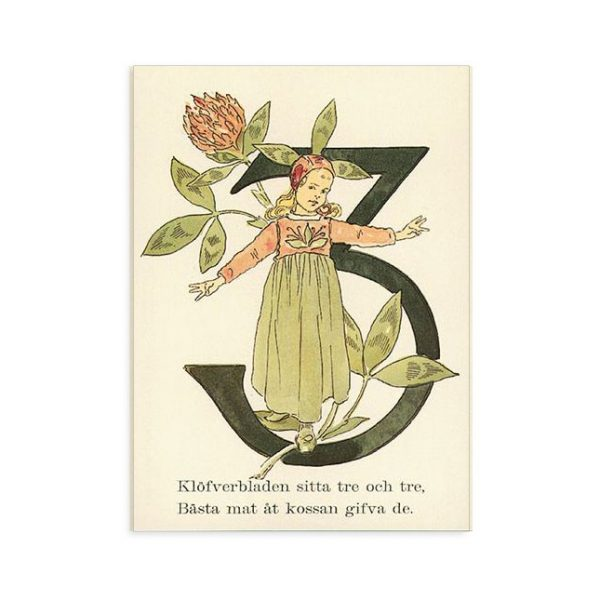 Cartolina numero 3 fiorito Ottilia Adelborg