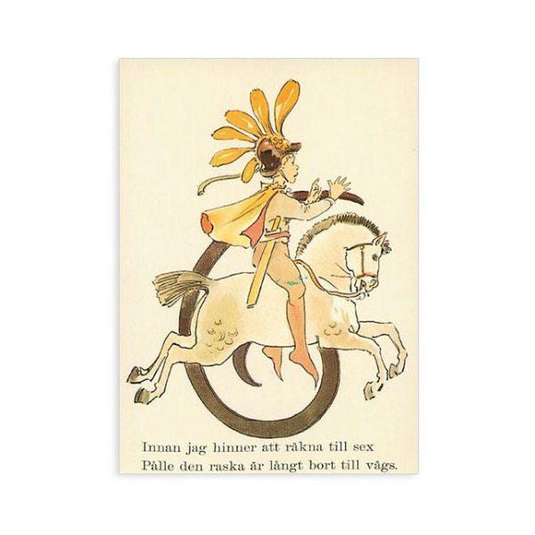 Cartolina numero 6 fiorito Ottilia Adelborg