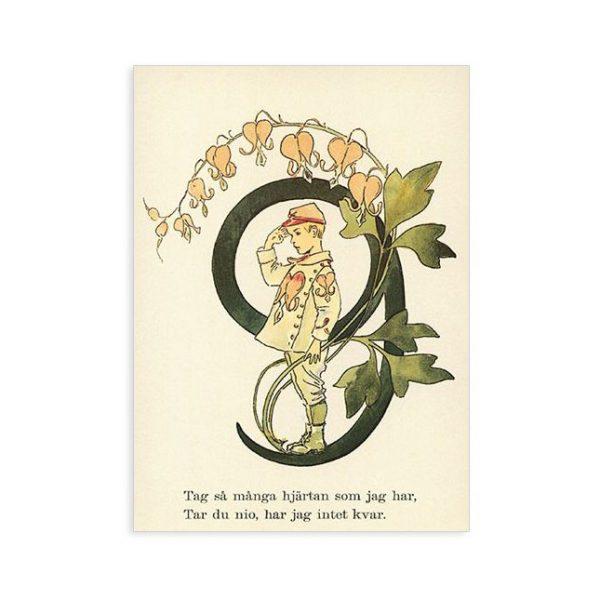Cartolina numero 9 fiorito Ottilia Adelborg