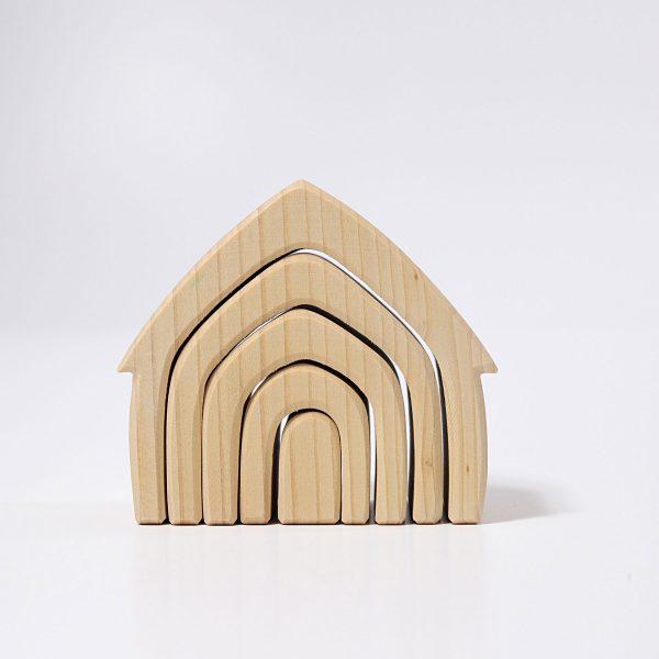 Casa impilabile legno naturale Grimm's - 5 pezzi