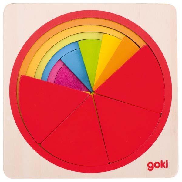 Puzzle Torta delle frazioni Goki