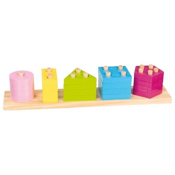 Impilabile colori e forme Montessori Goki