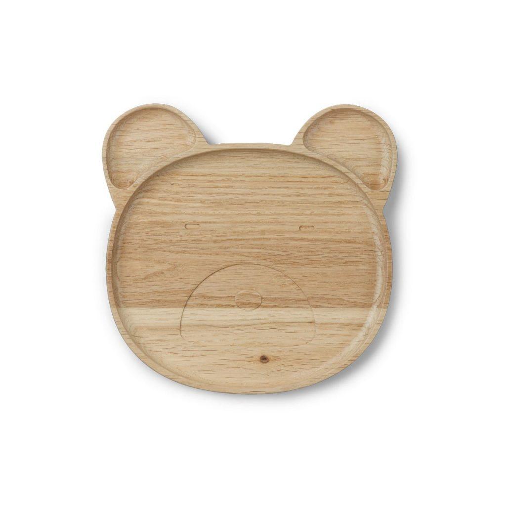 Vassoio piatto in legno Conrad wood plate bear LIEWOOD