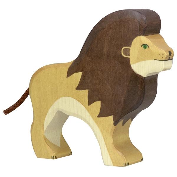 Figura legno leone - Holztiger