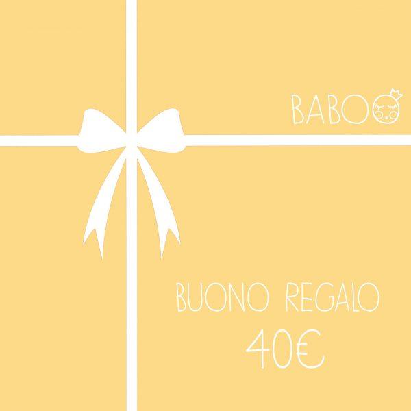 Buono regalo da Baboo 40€