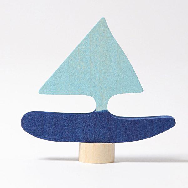 Figura decorativa legno barca Grimm's