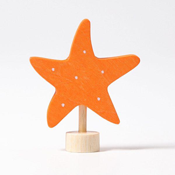 Figura decorativa legno stella marina Grimm's