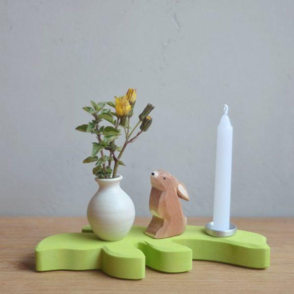 Candeliere foglia verde chiaro Grimm's