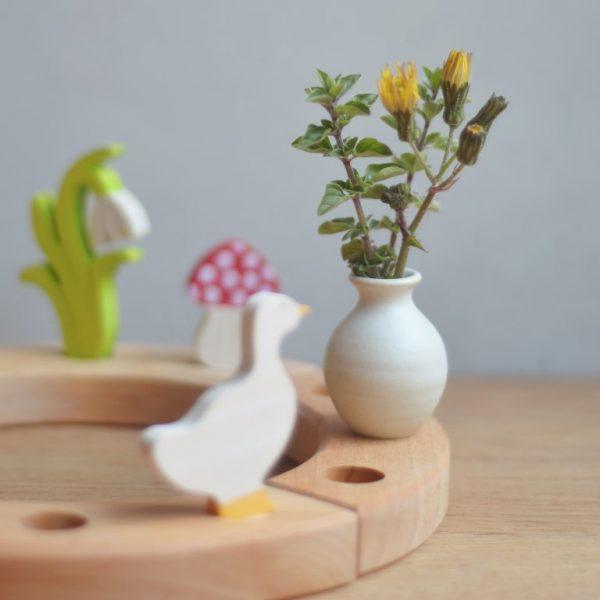 Figura decorativa vaso bianco Grimm's