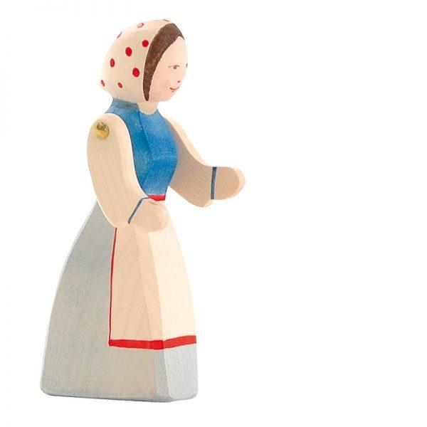 Figura legno Contadina braccia mobili - Ostheimer