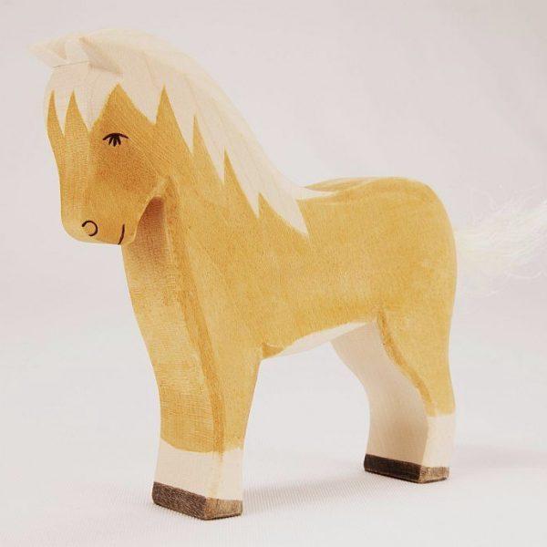 Figura legno Cavallo Haflinger - Ostheimer