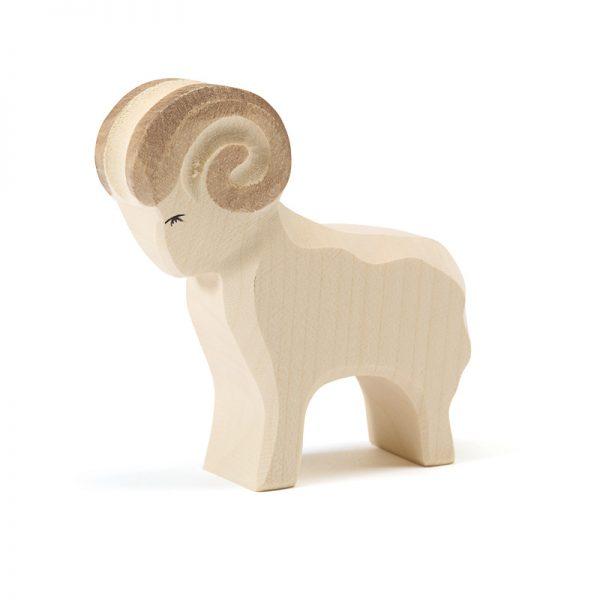 11601-Figura-legno-montone-bianco-Ostheimer