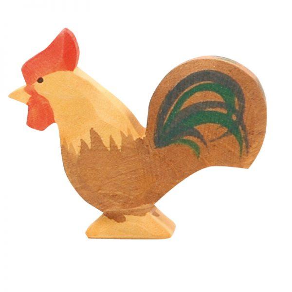 Figura legno gallo marrone - Ostheimer