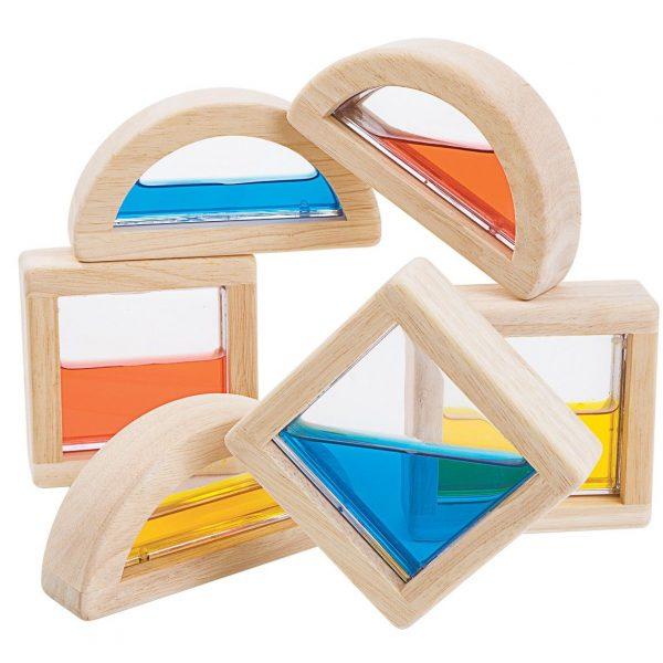 Gioco sensoriale colori Water Blocks Plan Toys