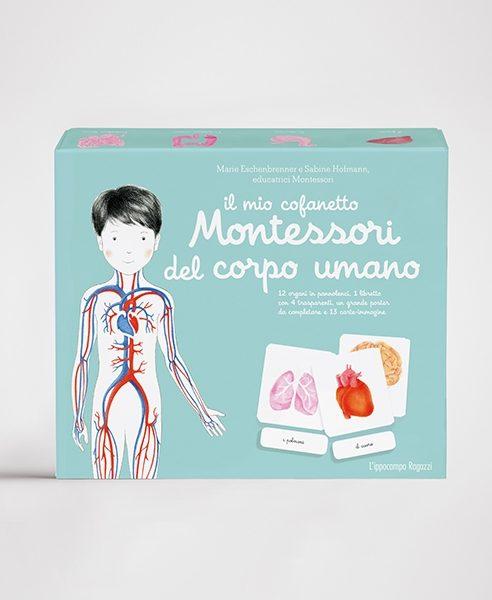 Il mio cofanetto Montessori del corpo umano Ippocampo Edizioni