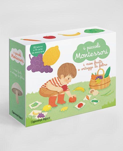 I piccoli Montessori - I miei frutti ortaggi di feltro Ippocampo Edizioni