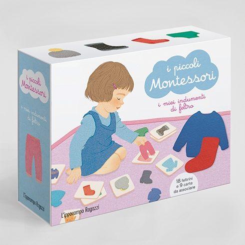 I piccoli Montessori - I miei indumenti in feltro Ippocampo Edizioni