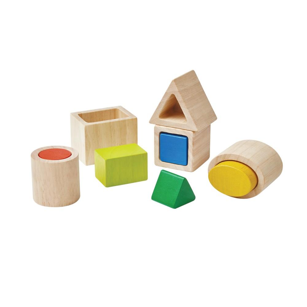 Puzzle Geo Matching Blocks Plan Toys